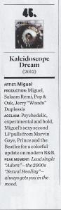 Miguel VIBE Magazine KD 50 Greatest Albums Apri lMay 2013